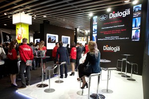 Dialoga stand at Mobile World Congress in Barcelona