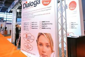 Dialoga Stand at Stratégie Client in Paris