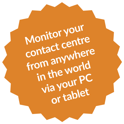 Monitor your contact centre from anywhere in the world via your PC or tablet - Hydra - Dialoga