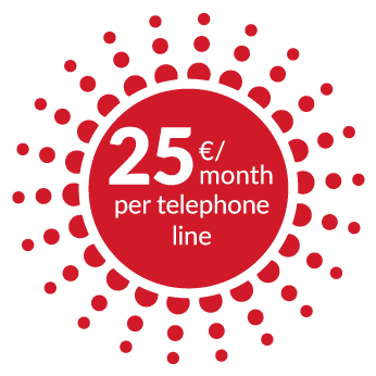 25€/month per telephone line - Sword - Dialoga